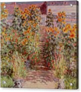 The Garden At Vetheuil Acrylic Print by Claude Monet