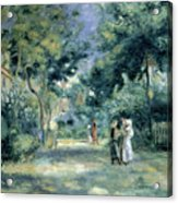 The Gardens In Montmartre Acrylic Print by Pierre Auguste Renoir