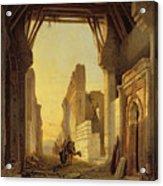 The Gates Of El Geber In Morocco Acrylic Print by Francois Antoine Bossuet