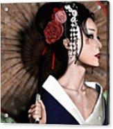 The Geisha Acrylic Print by Pete Tapang