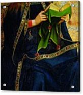 The Ghent Altarpiece The Virgin Mary Acrylic Print by Jan and Hubert Van Eyck