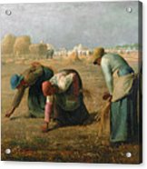 The Gleaners Acrylic Print by Jean Francois Millet