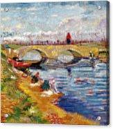 The Gleize Bridge Over The Vigneyret Canal  Acrylic Print by Vincent van Gogh