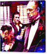 The Godfather Kiss Acrylic Print by David Lloyd Glover
