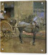 The Governess Cart Acrylic Print by Joseph Crawhall