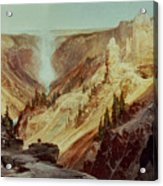 The Grand Canyon Of The Yellowstone Acrylic Print by Thomas Moran