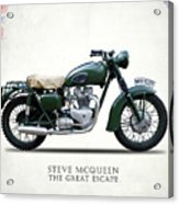 The Great Escape Motorcycle Acrylic Print by Mark Rogan