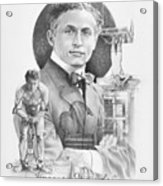The Great Houdini Acrylic Print by Steven Paul Carlson