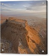 The Great Refuge Of Masada Looms Acrylic Print by Michael Melford