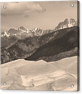 The Great Sand Dunes Sepia Print 45 Acrylic Print by James BO  Insogna