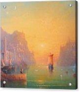 The Grey Havens. The Gulls Lament.  Oil On Canvas Acrylic Print by Joe  Gilronan