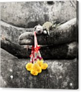 The Hand Of Buddha Acrylic Print by Adrian Evans