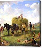 The Hay Harvest Acrylic Print by Hermann Kauffmann