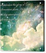 The Heavens Declare Acrylic Print by Stephanie Frey