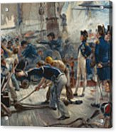 The Hero Of Trafalgar Acrylic Print by William Heysham Overend