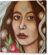 The High Priestess Acrylic Print by Tammy Mae Moon