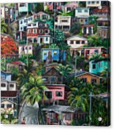The Hill     Trinidad  Acrylic Print by Karin  Dawn Kelshall- Best