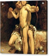 The Hit Acrylic Print by Frederic Leighton