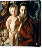 The Holy Family With St. John The Baptist Acrylic Print by Jacob Jordaens