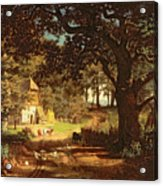 The House In The Woods Acrylic Print by Albert Bierstadt