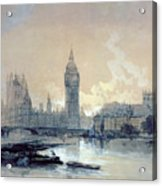 The Houses Of Parliament Acrylic Print by David Roberts