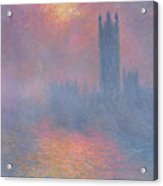 The Houses Of Parliament London Acrylic Print by Claude Monet