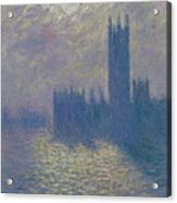 The Houses Of Parliament Stormy Sky Acrylic Print by Claude Monet