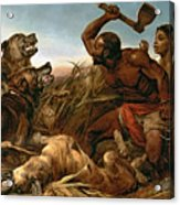The Hunted Slaves Acrylic Print by Richard Ansdell