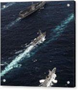 The John C. Stennis Carrier Strike Acrylic Print by Stocktrek Images