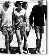 The Kennedys, Robert, Jackie, Ethel Acrylic Print by Everett