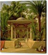 The Khabanija Fountain In Cairo Acrylic Print by Grigory Tchernezov