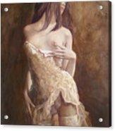 The Laces Acrylic Print by Sergey Ignatenko
