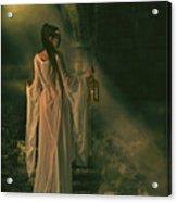 The Lady Of Shalott Acrylic Print by Shanina Conway