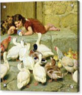 The Last Spoonful Acrylic Print by Briton Riviere