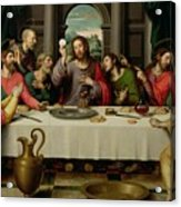The Last Supper Acrylic Print by Vicente Juan Macip