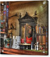 The Lazy Gecko Bar Key West Acrylic Print by Scott Bert