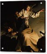 The Liberation Of Saint Peter Acrylic Print by Abraham Bloemaert