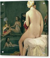 The Little Bather In The Harem Acrylic Print by Jean Auguste Dominique Ingres