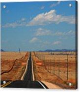 The Long Road To Santa Fe Acrylic Print by Susanne Van Hulst