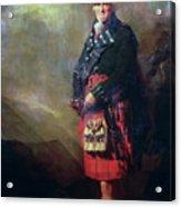 The Macnab Acrylic Print by Sir Henry Raeburn