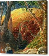The Magic Apple Tree Acrylic Print by Samuel Palmer