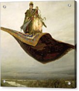 The Magic Carpet Acrylic Print by Apollinari Mikhailovich Vasnetsov