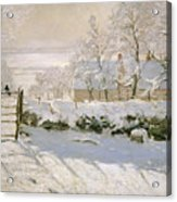 The Magpie Acrylic Print by Claude Monet