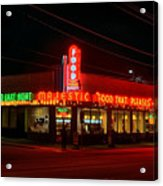 The Majestic Diner Acrylic Print by Corky Willis Atlanta Photography