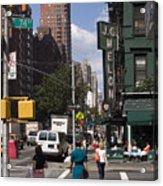 The Manhattan Sophisticate Acrylic Print by Madeline Ellis