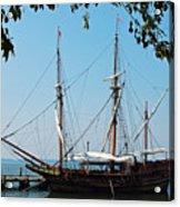 The Maryland Dove Ship Acrylic Print by Thomas R Fletcher