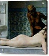 The Massage Acrylic Print by Edouard Debat-Ponsan