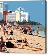 The Miami Beach Acrylic Print by David Lee Thompson