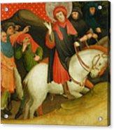 The Mocking Of Saint Thomas Acrylic Print by Master Francke