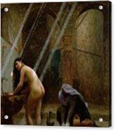 The Moorish Bath Acrylic Print by Jean Leon Gerome
